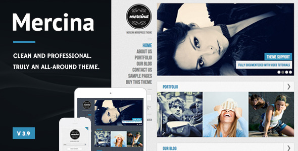 Mercina WordPress Theme - Business Corporate