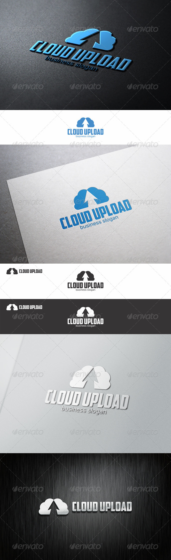 GraphicRiver Cloud Up Upload Hosting Logo 8564388