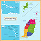 Grenada Map - GraphicRiver Item for Sale