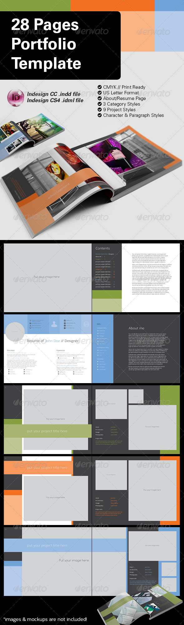 GraphicRiver 28 Pages US Letter Landscape Portfolio 8564526
