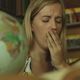 The Girl Yawns Reading - VideoHive Item for Sale