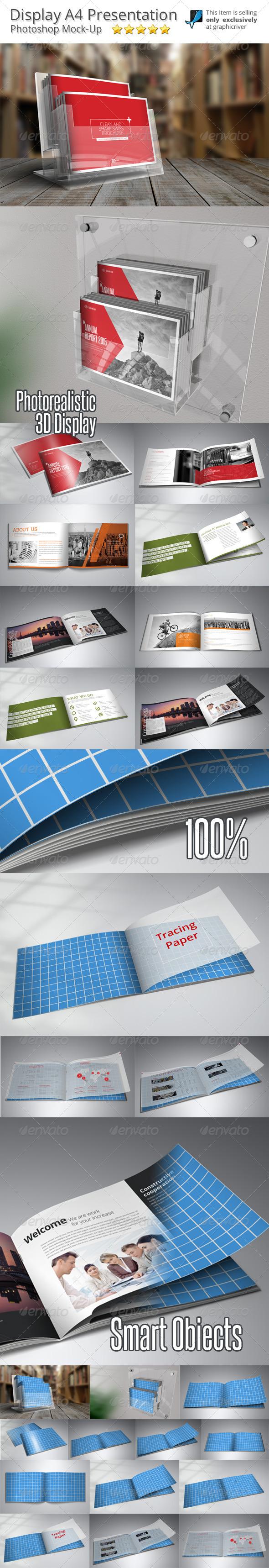 GraphicRiver Horizontal Brochure Mock-Up 8564567