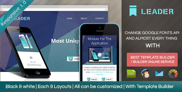 ThemeForest Leader Responsive Email Template With Builder 8564570