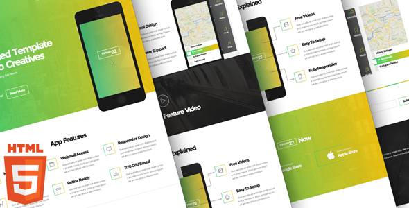 ThemeForest Thirteen22 App Landing Page 8564588
