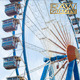 Ferris Wheel Against Blue Sky - VideoHive Item for Sale