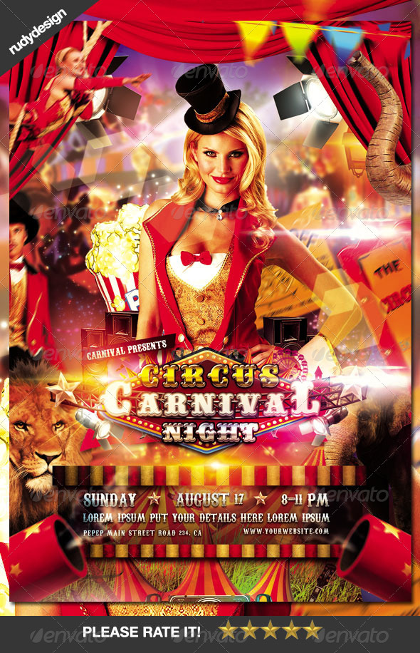 GraphicRiver Circus Carnival Flyer Design 8555571