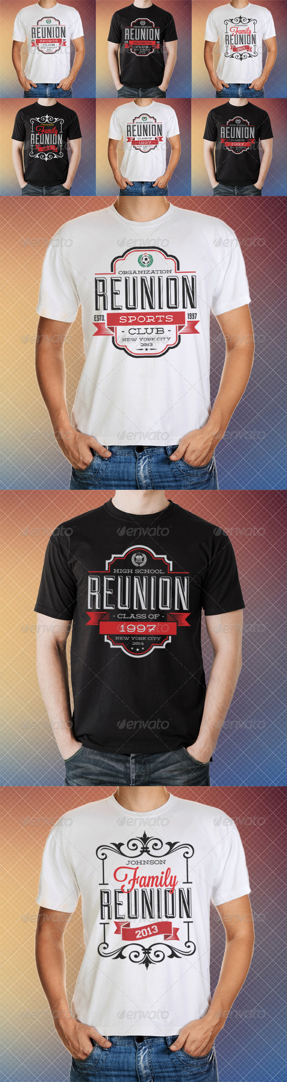 GraphicRiver Reunion T-Shirt Templates 8565065