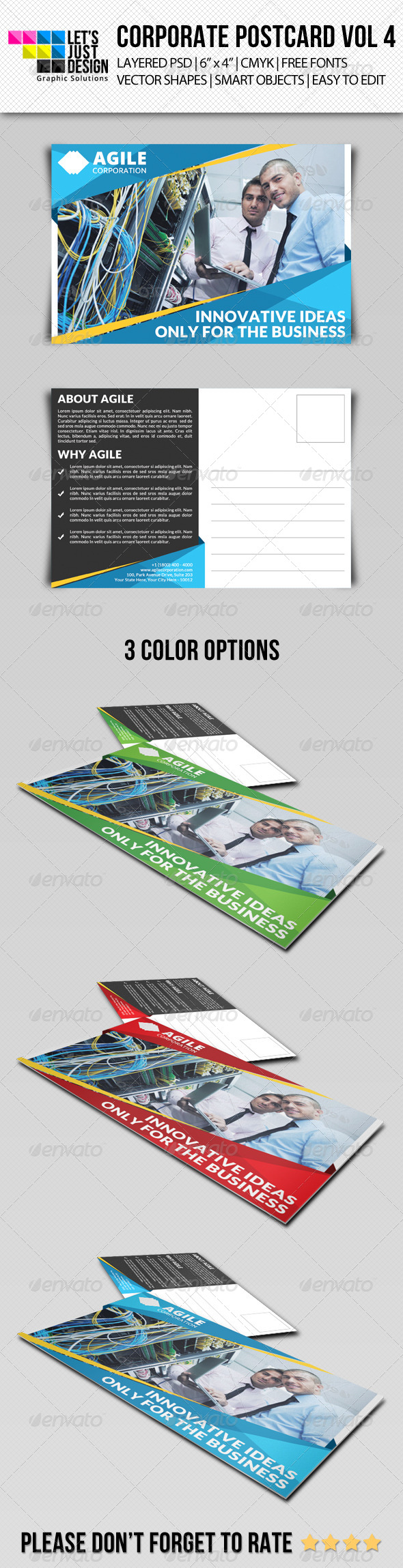 GraphicRiver Corporate Postcard Template Vol 4 8565076