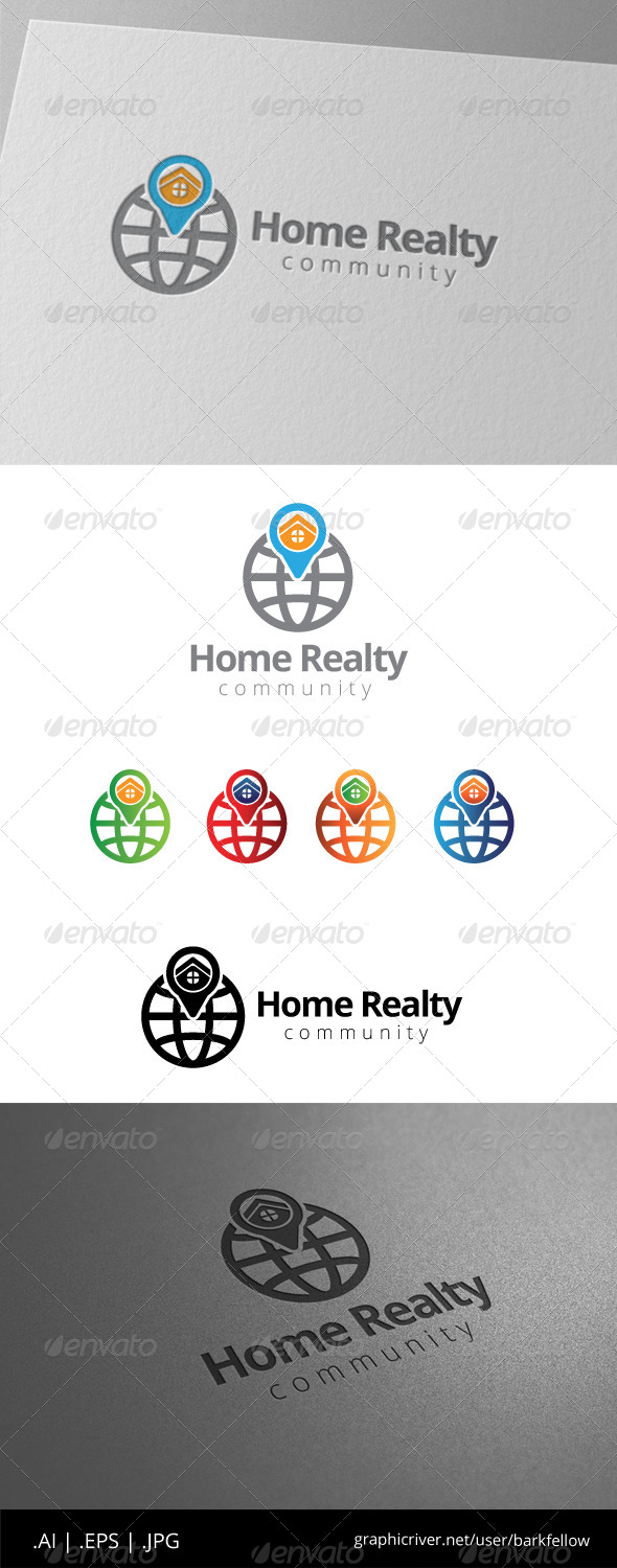 GraphicRiver Home Realty Finder Logo 8565077