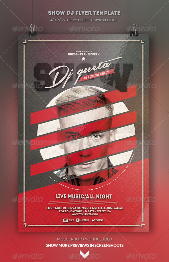 GraphicRiver Show Deejay Flyer Template 8565082