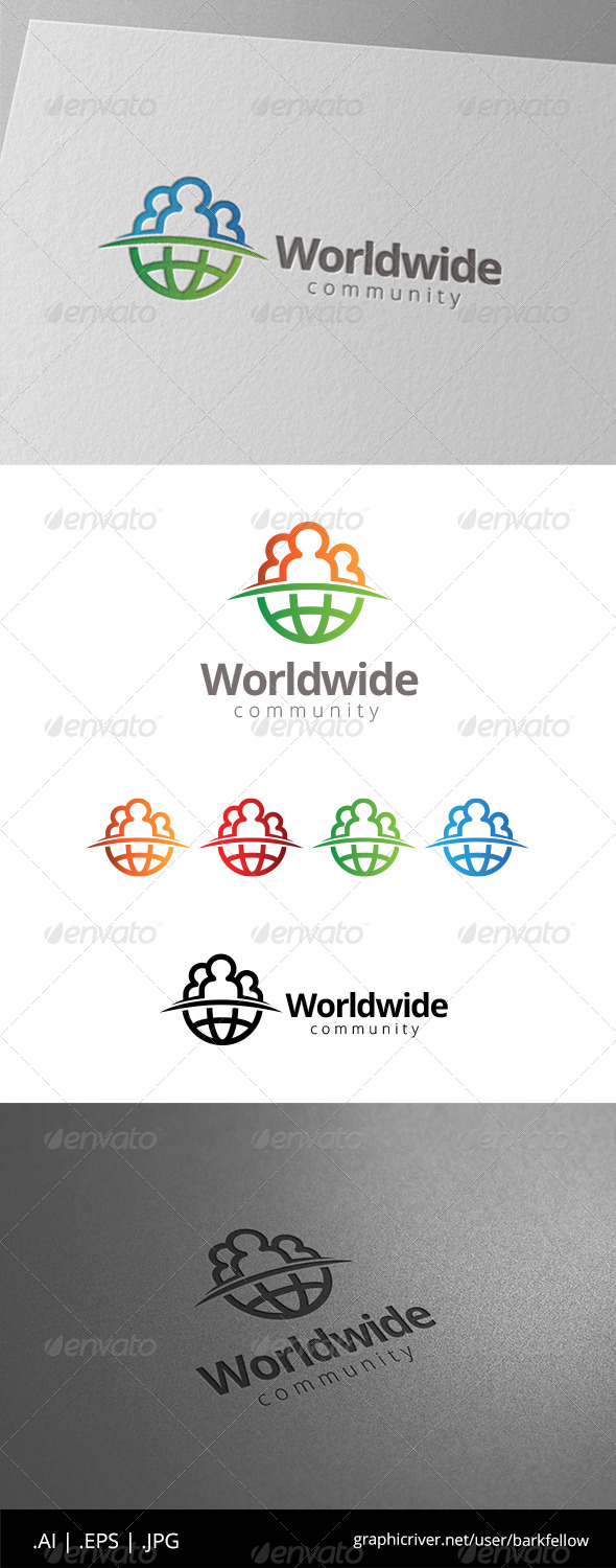 GraphicRiver World Globe People Community Logo 8565084