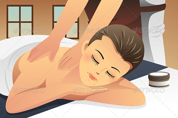 GraphicRiver Woman Enjoying Massage 8565095