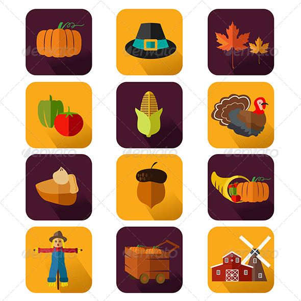 GraphicRiver Thanksgiving Icons 8565096