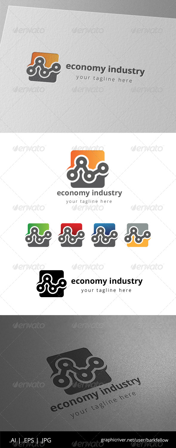 GraphicRiver Engineering Industry Chart Logo 8565100