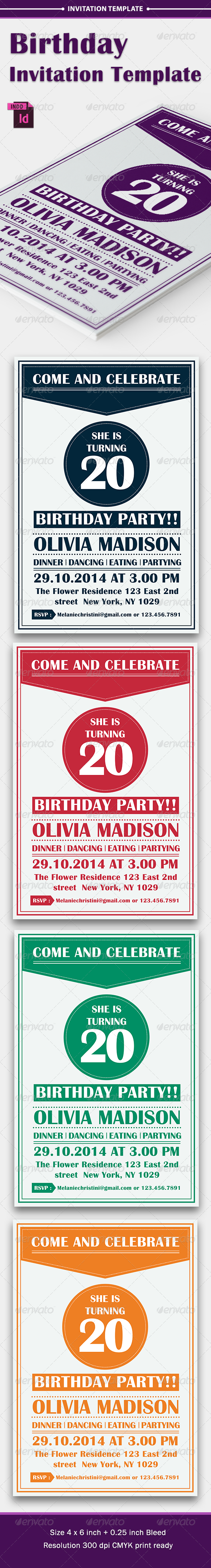 GraphicRiver Birthday Party Invitation Template Vol 4 8565131