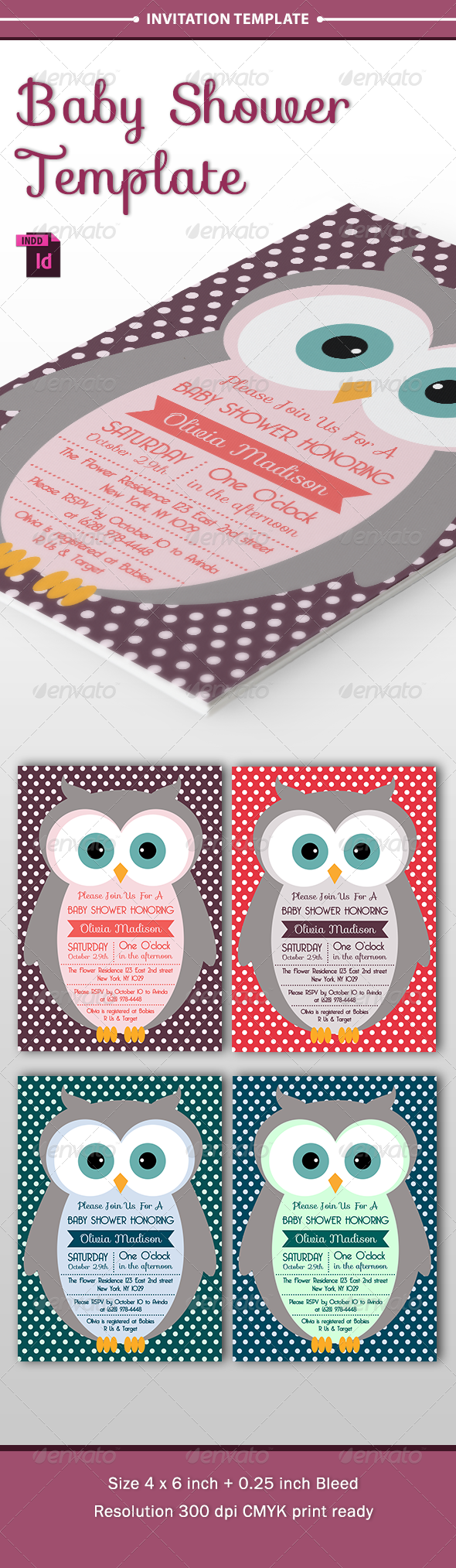 GraphicRiver Baby Shower Template Vol 7 8565145