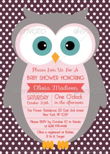 Baby Shower Menu Template