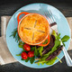 Homemade potpie meal with salad - PhotoDune Item for Sale