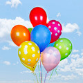 Colorful balloons on blue sky - PhotoDune Item for Sale