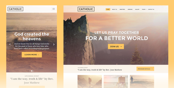 ThemeForest Catholic Bulletin Program Church Website Template 8546860