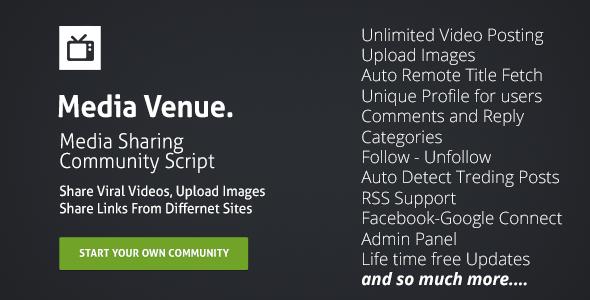 CodeCanyon Media Venue Community Script 8565266