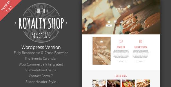 Royalty Shop - Restaurant Wordpress Theme - Food Retail