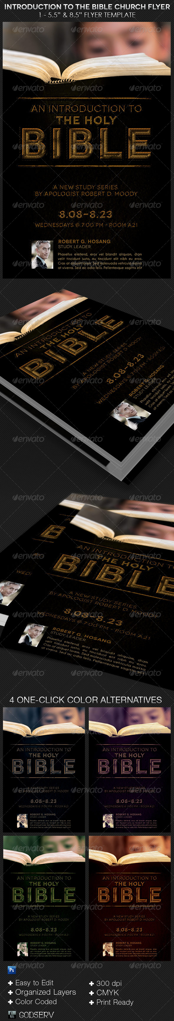 GraphicRiver Introduction to The Bible Church Flyer Template 8565318