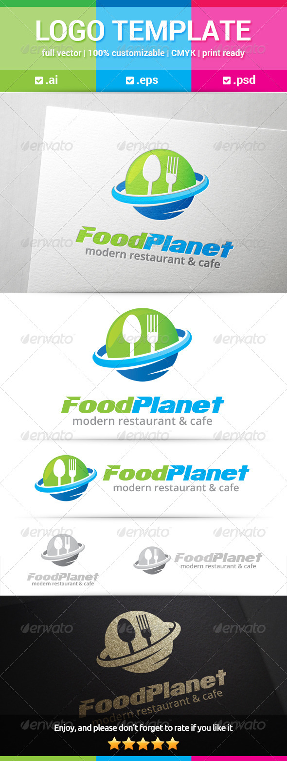 GraphicRiver Food Planet Logo 8565351