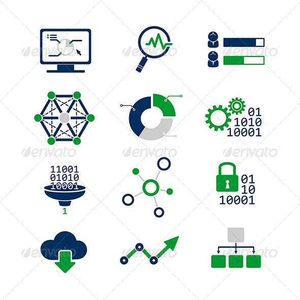 GraphicRiver Data Analytic Icons Set 8565366