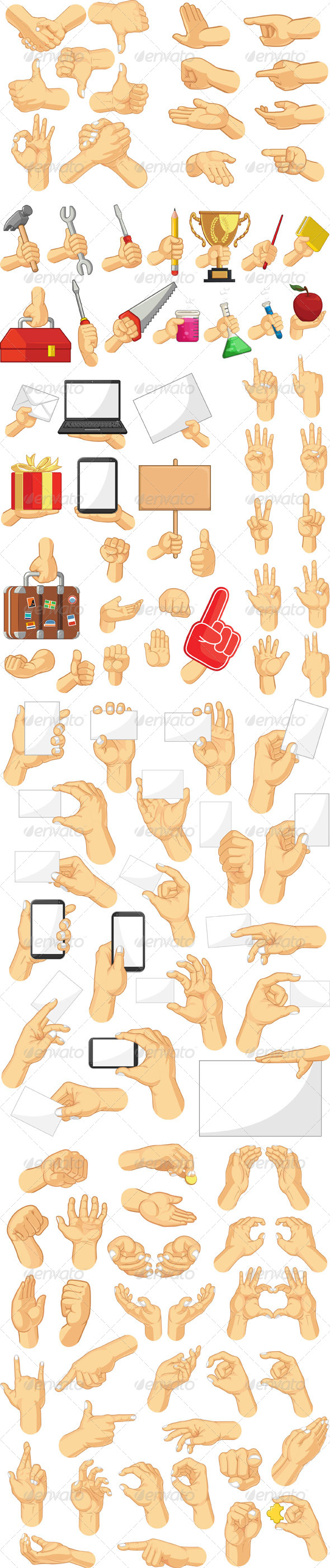 GraphicRiver Hand Sign Collection 8565401