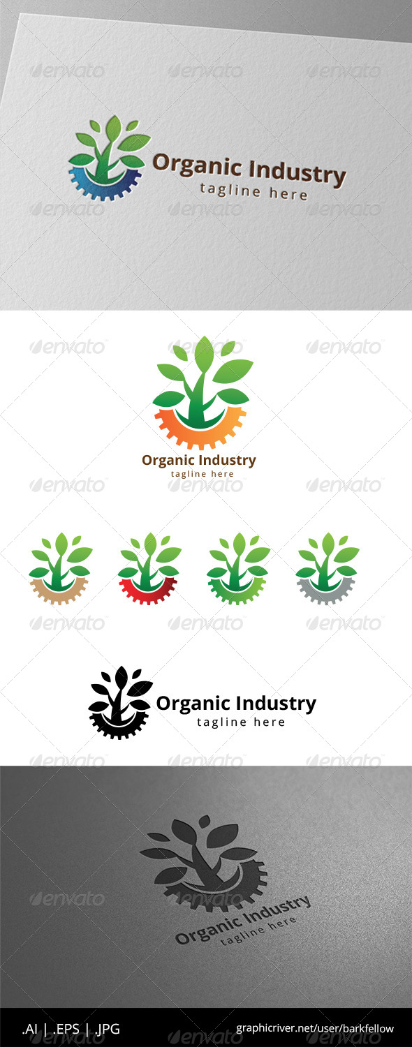GraphicRiver Green Organic Industry Logo 8565403