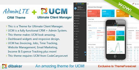 UCM Theme AdminLTE CRM