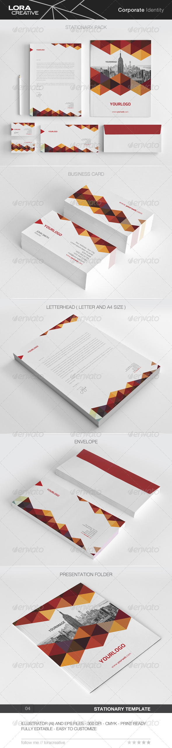 GraphicRiver Modern Stationary Pack 04 8565437