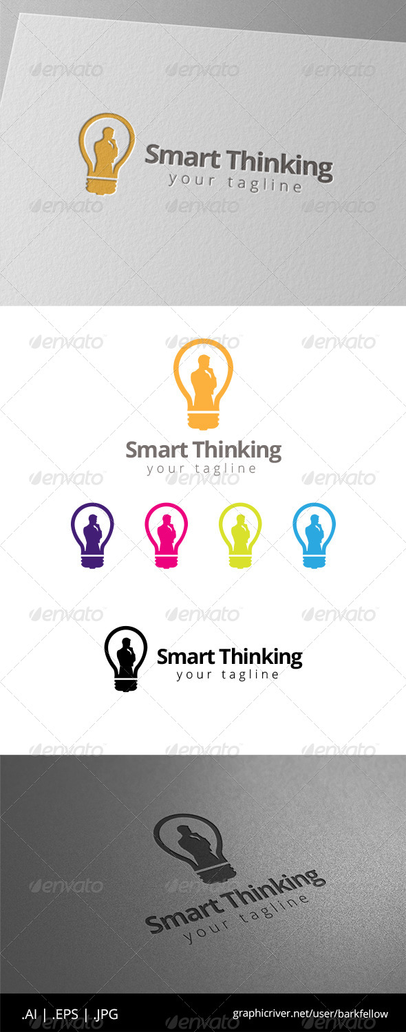 GraphicRiver Human Smart Thinking Logo 8565488