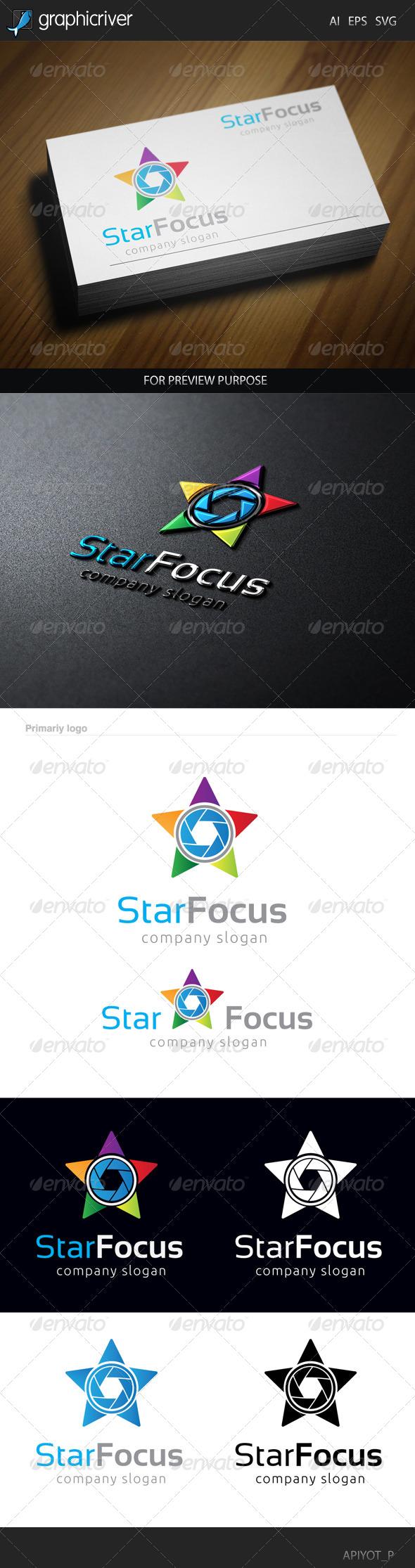 GraphicRiver Star Focus Logo 8565491