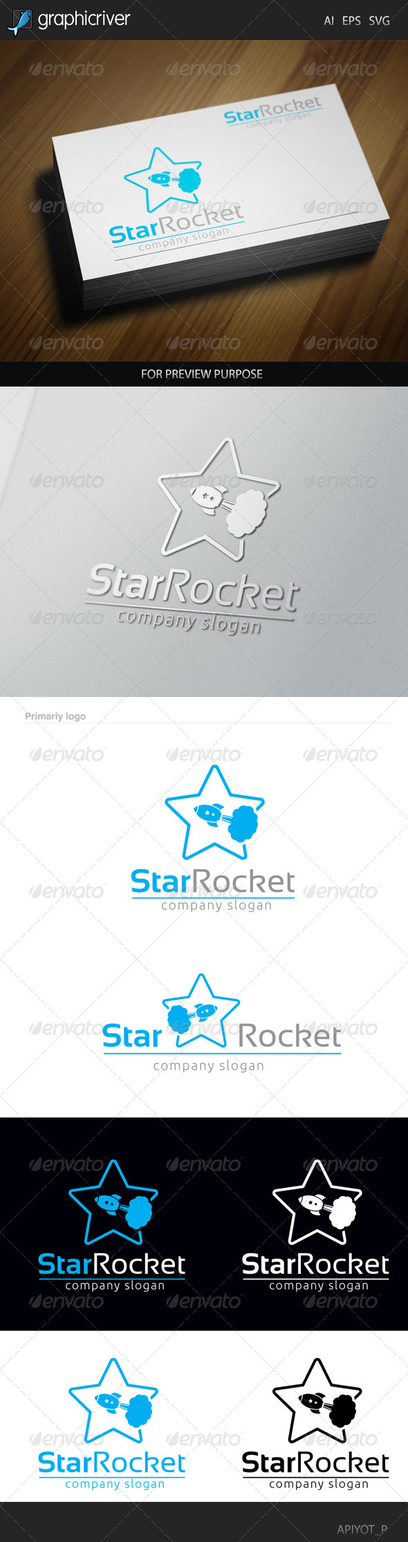 GraphicRiver Star Rocket Logo 8565497