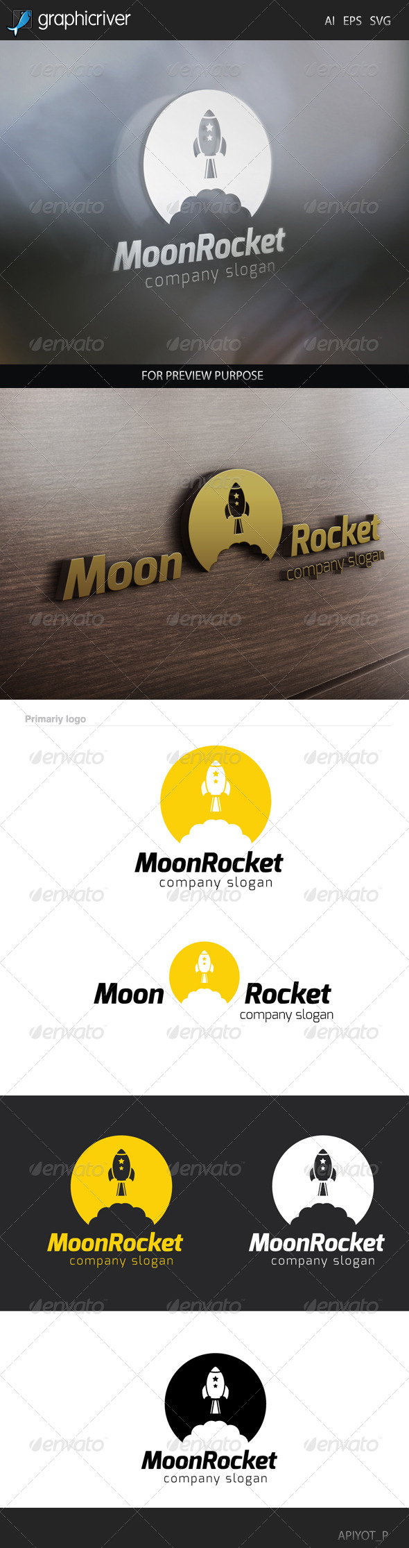 Moon Rocket 1 logo