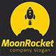 Moon Rocket 1 logo - GraphicRiver Item for Sale