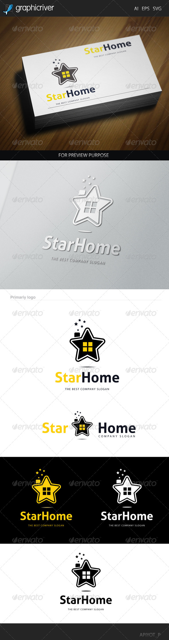 GraphicRiver Star Home Logo 8565512