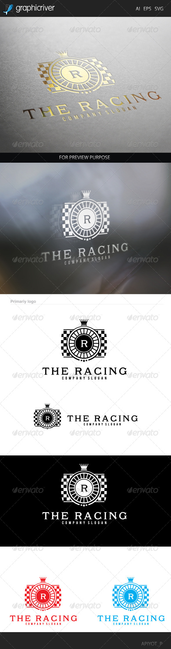 GraphicRiver The Racing Logo 8565516