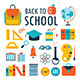 Back To School Icon Set - GraphicRiver Item for Sale