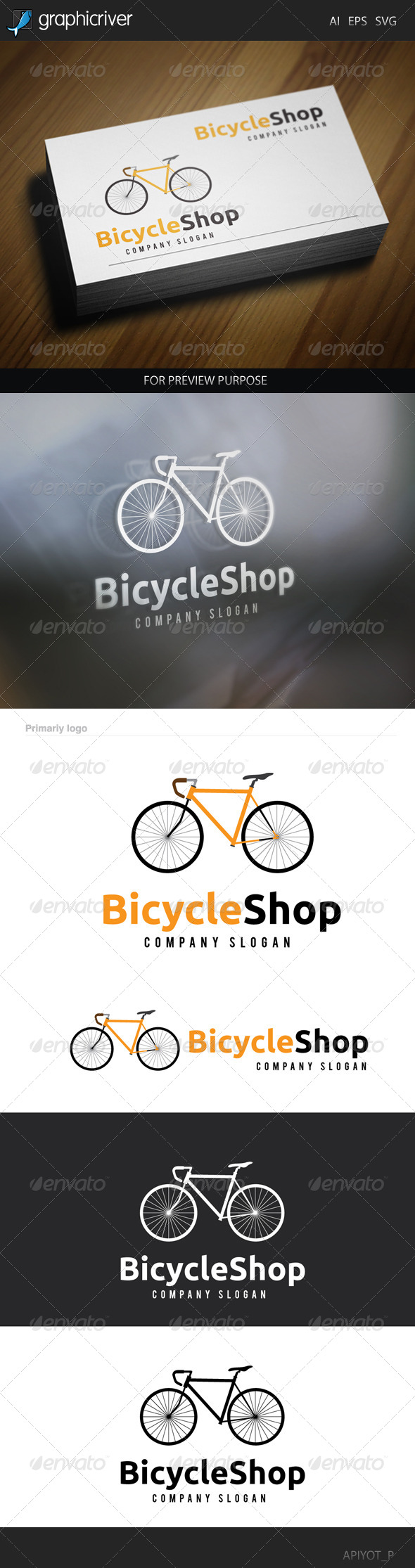 GraphicRiver Bicycle Shop Logo 8565530