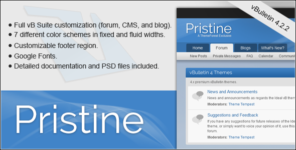 ThemeForest Pristine A vBulletin 4 Suite Theme 8519453