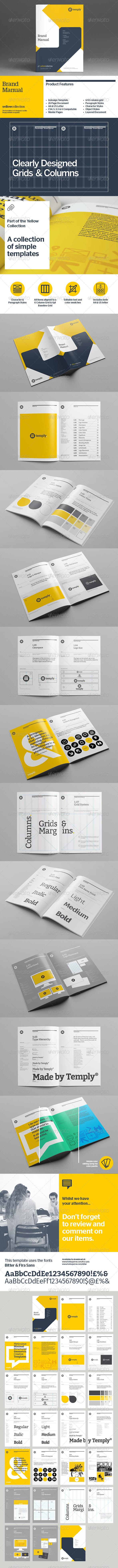 GraphicRiver Brand Manual Template 8536178