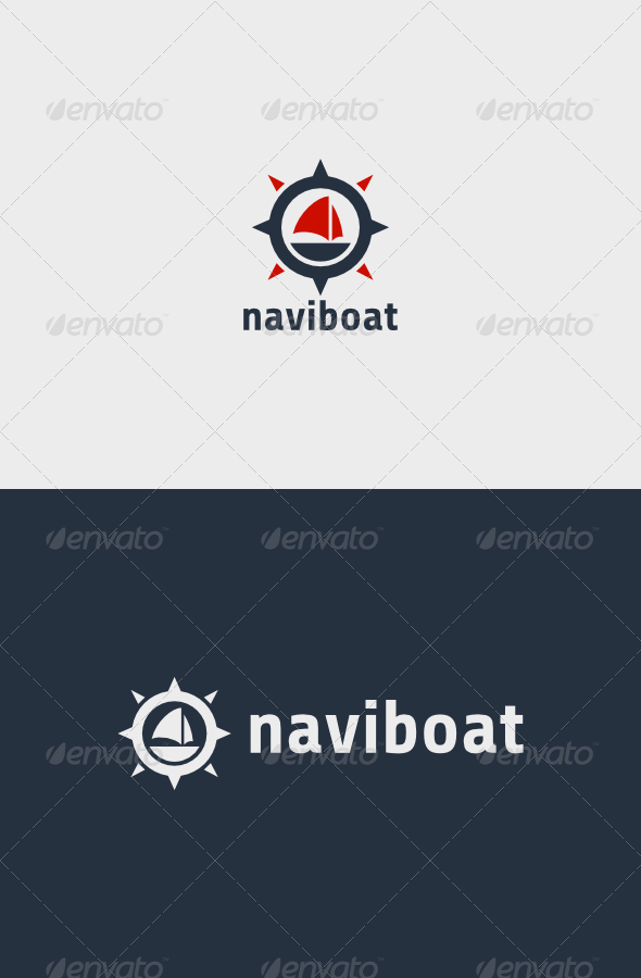 GraphicRiver Navigation Boat Logo 8565562