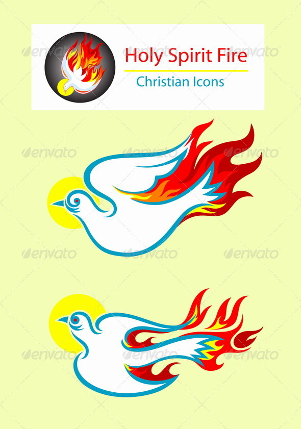 GraphicRiver Holy Spirit Icons 8565563