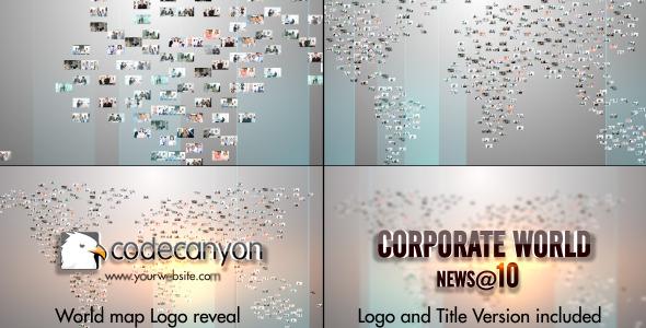 World Map Video Image Logo
