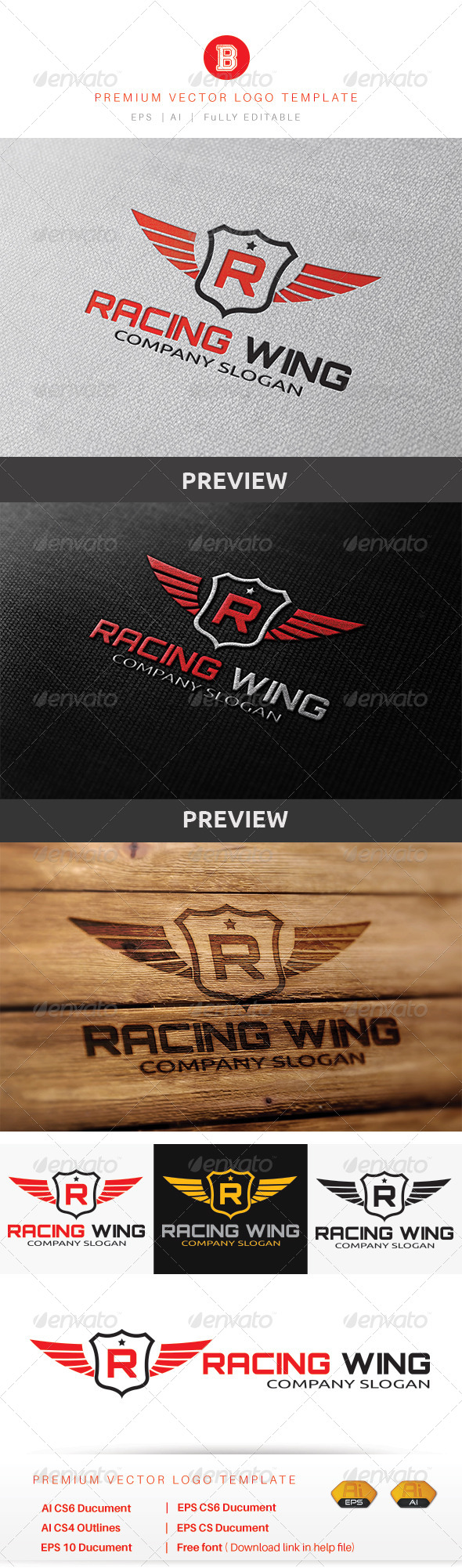 GraphicRiver Racing Wing 8565620