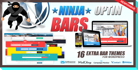 CodeCanyon Optin Bars Pack for Ninja Popups 8565634