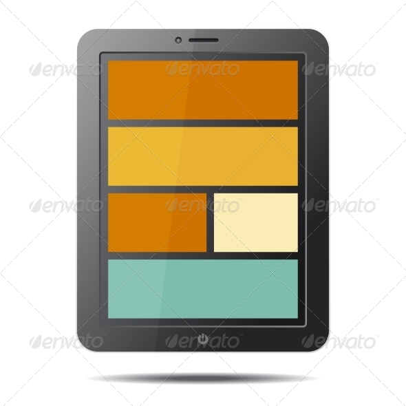 GraphicRiver Tablet PC Computer with Flat Style Screen 8565656